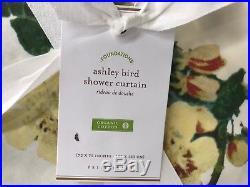 NEW Pottery Barn Ashley Bird Print Shower Curtain
