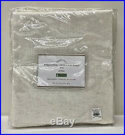 NEW Pottery Barn Belgian Flax Linen Poletop Sheer 50x108 Drape CurtainIvory
