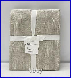 NEW Pottery Barn Belgian Flax Linen Waffle Shower Curtain72Natural Flax