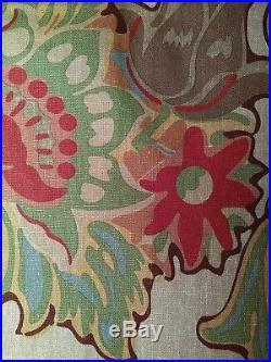 NEW Pottery Barn Burnt Multi Floral Neutral Drapes Curtain 2 Panels Set 50x96