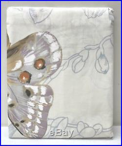 NEW Pottery Barn Butterfly Shadow Botanical Shower Curtain
