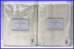 NEW Pottery Barn Cameron Cotton 50 x 108 GROMMET Drapes, SET OF 2, IVORY