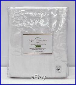 NEW Pottery Barn Classic Belgian Flax Linen 50x96 BLACKOUT Drape CurtainWhite