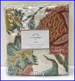 NEW Pottery Barn Cynthia Palampore 50 x 108 Cotton Lined Drape, IVORY