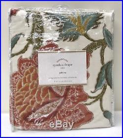 NEW Pottery Barn Cynthia Palampore 50 x 96 Cotton Lined Drape, IVORY