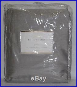 NEW Pottery Barn Dupioni Silk 104 x 108 DOUBLEWIDE Drape, PLATINUM GRAY