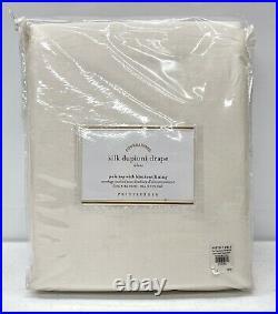 NEW Pottery Barn Dupioni Silk 104 x 84 PoleTop BLACKOUT Drape CurtainIvory