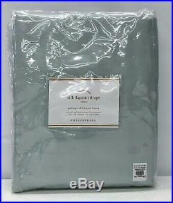 NEW Pottery Barn Dupioni Silk 50 x 84 BLACKOUT Drape CurtainPorcelain Blue