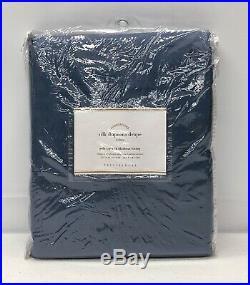 NEW Pottery Barn Dupioni Silk BLACKOUT Drape Curtain50 x 96Lagoon Blue