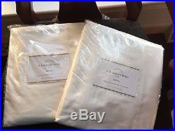 NEW Pottery Barn Dupioni Silk Drapes 50 x 96WhiteS/2
