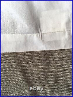 NEW Pottery Barn EMERY LINEN COTTON (1) CURTAIN Drape Panel 50x84 Gray lined