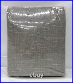 NEW Pottery Barn Emery Linen Cotton 100 x 96 PoleTop BLACKOUT CurtainGray