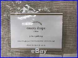 NEW Pottery Barn Emery Linen/Cotton 50 x 84 Cotton Lined Drape, OATMEAL