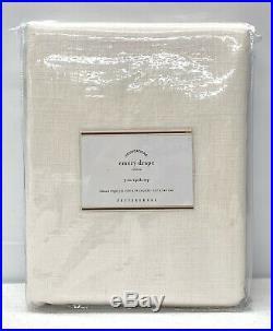 NEW Pottery Barn Emery Linen Cotton 50 x 96 COTTON LINED Drape CurtainIvory