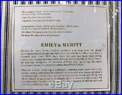NEW Pottery Barn Emily & Meritt Ticking Stripe BLACKOUT Drapes Curtains 50x108