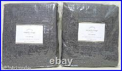 NEW Pottery Barn Everyday 50 x 84 Drapes CurtainsSET OF 2GRAY