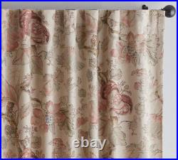 NEW Pottery Barn Grace Print Floral Linen/Cotton Curtains Drapes, 50 x 96