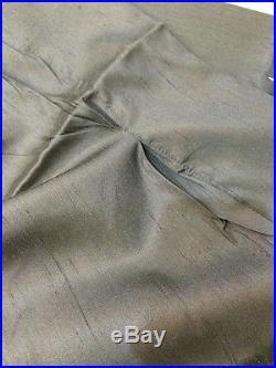 NEW Pottery Barn Indigo Blue SILK Dupioni Double-Wide Panel Curtain 104 x 84