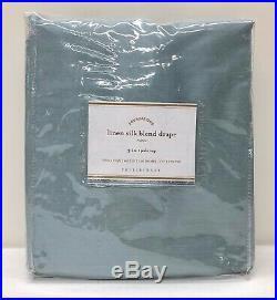NEW Pottery Barn Linen Silk Blend Cotton Lined Drape Curtain50 x 108Blue Dawn