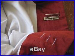 NEW Pottery Barn Set (2) Panels Raw Silk Drapes Curtain Henna Red 50 x 96