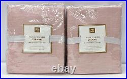 NEW Pottery Barn TEEN Classic Linen 44 x 84 BLACKOUT Curtain PanelSET/2Blush