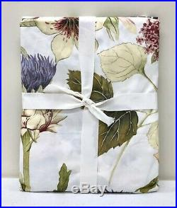 NEW Pottery Barn Thistle Floral Print Fabric Shower CurtainMulticolor
