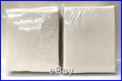NEW Pottery Barn Velvet 50 x 108 Cotton Lined Drapes, IVORY SET OF 2