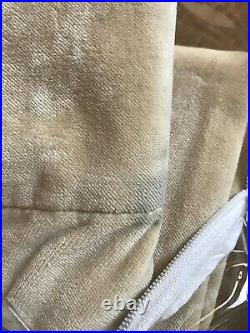 NEW Pottery Barn Velvet Drape Curtains 50 x 63 Inches Pole Pocket Wheat