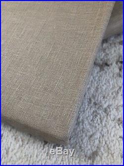 NEW Set Of 2 Pottery Barn Belgian Flax Linen Sheer Curtains Drape 50 x84 Flax
