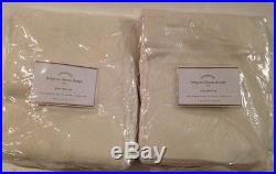 NEW Set of 2 Pottery Barn Belgian Linen 3-in-1 Pole Top Drapes 50x108 in IVORY
