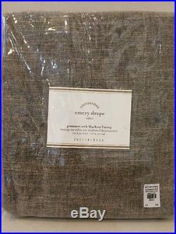NIP Pottery Barn Sable Brown EMERY GROMMET with Blackout Drape Curtain 50 x 84