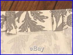 NIP Pottery Barn Set of 4 Panels Maris Drape/Curtain 50x108 Gray & White