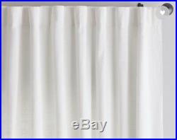 NWOT Pottery Barn Belgian White LINEN CURTAINS Drapes Panels 50 x 96