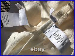 NWOT Pottery Barn Ivory Linen Gauze Curtain Panels Drapes 50 x 84 Set of 2