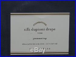 Nwt Pottery Barn Lagoon Dupioni Silk Grommet Drape 50 X 96 (2 Panels)