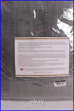 NWT Pottery Barn Belgian Linen blackout curtain panel 50x84 shale gray