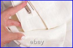NWT Pottery Barn Belgian Linen drape curtain w Libeco linen 50x108 ivory unlined