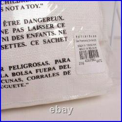 NWT Pottery Barn Belgian Linen drape curtain w Libeco linen 50x108 white unlined