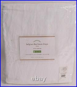 NWT Pottery Barn Classic Belgian Flax Linen drape curtain panel 50x108, white