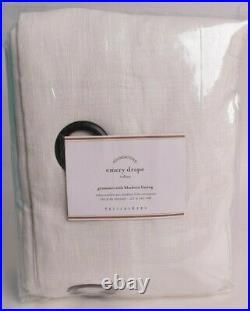NWT Pottery Barn Emery Linen Grommet blackout drape curtain panel 50x96 ivory