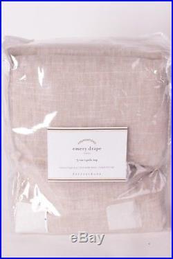 NWT Pottery Barn Emery linen cotton doublewide drape panel 100x84 oatmeal