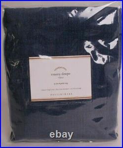NWT Pottery Barn Emery pole top drape curtain panel 50x84, midnight blue