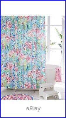 NWT Pottery Barn LILLY PULITZER Shower Curtain MERMAIDS COVE