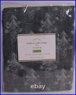 NWT Pottery Barn Linnea print blackout drape curtain panel, 50x96, blue