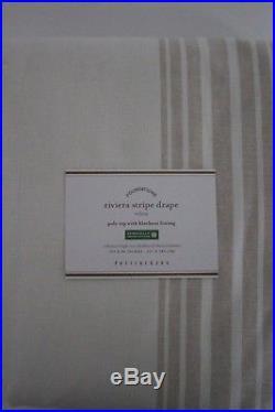 NWT Pottery Barn Riviera Stripe blackout drape panels 50x96 sandaloowd
