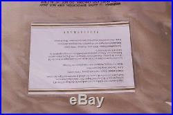 NWT Pottery Barn Silk Dupioni drape panel parchment tan 104x96 doublewide
