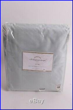 NWT Pottery Barn Silk Dupioni drape panel porcelain blue 104x96 doublewide
