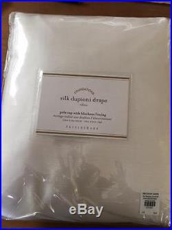 NWT Pottery Barn Silk Dupioni drape panels White 104' x 84' Doublewide -3 Avail