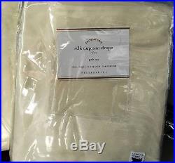 New1 Pottery Barn Silk Dupioni Drape Ivory 104x84