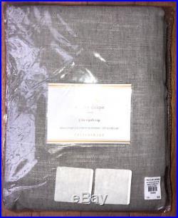 New2Pottery Barn Emery Linen Cotton DrapesGrayGrey50x96